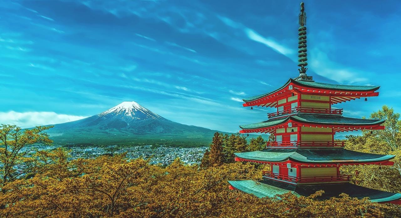 Japan pagoda fuji