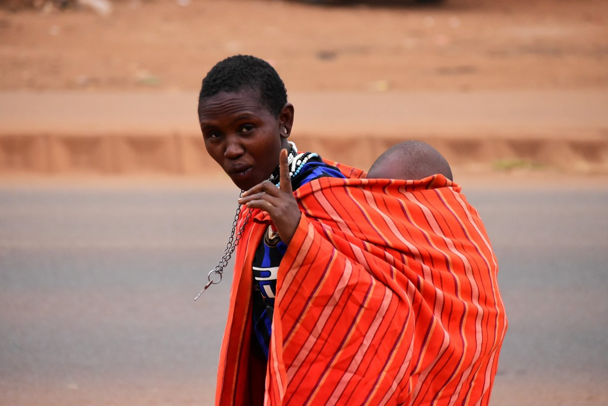 Tanzania Woman with Baby